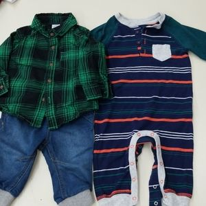 Cat & Jack size 3-6m & Carter's plaid is 6m